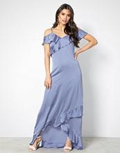 Y.a.s Blå Yasfielle Off Shoulder Maxi Dress