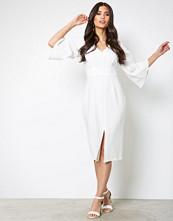 Closet White V Neck Midi Dress