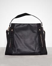 New Look Black Zip Front Contrast Panel Shopper