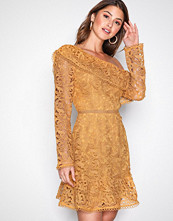 River Island Yellow Lace Dress
