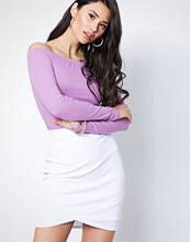 NLY Trend Hvit Wrapped Rib Skirt