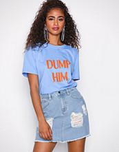 NLY Trend Light Blue Denim Destroy Mini Denim Skirt
