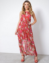 Vero Moda Rød Vmlili Chif S/L Ankle Dress D2 Lcs