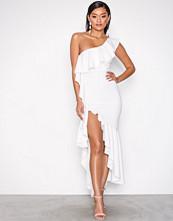 NLY One Hvit Asymmetric Frill Dress
