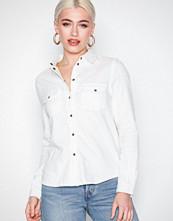 Noisy May Hvit Nmkendall L/S Shirt White