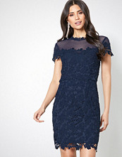 NLY One Navy Lace Trim Bodycon Dress