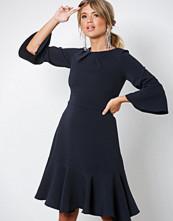 Closet Navy Frill Sleeve A-Line Dress