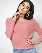 Only Lys rosa onlGEENA Xo L/S Pullover Knt Noos