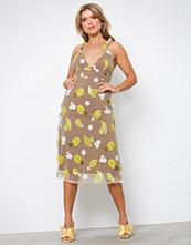 For Love & Lemons Pineapple Fruitpunch sequin Midi Dr