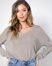 Only Hvit onlPISA L/S V-Neck Pullover Knt Noo