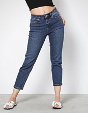 New Look Blue Rinse Wash Cropped Straight Leg Jeans