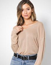 Only Lys brun onlPISA L/S V-Neck Pullover Knt Noo