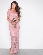 Vila Lys rosa Vizally Off Shoulder Maxi Dress/Dc