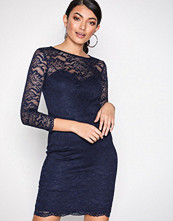 New Look Navy Lace Sweetheart Neck Bodycon Dress