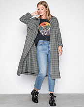 River Island Grey Check Trench Coat