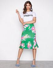 NLY One Print Scuba Midi Frill Skirt