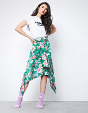 NLY Trend Grønn/Mønstrete Asymmetric Hem Skirt