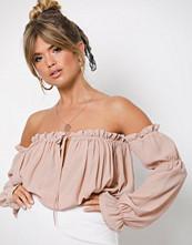 NLY Trend Lys rosa Soft Off Shoulder Blouse