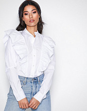 Polo Ralph Lauren White Ruffle Shirt