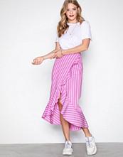 River Island Ruffle Front Stripe Skirt