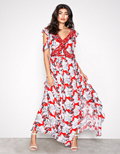 River Island Red Ruffle Maxi Dress