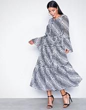 Michael Kors Black/White Tiered Boho Dress