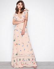 Glamorous Beige Flower Dress