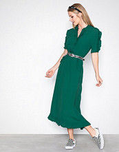 Object Collectors Item Grå Objanny S/S Ruffle Long Dress a Sp