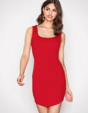 Missguided Red Scuba Bodycon Dress