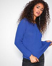 Selected Femme Mørk blå Sfolga Ls Knit Wide O-Neck