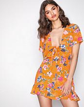Glamorous Orange Flounce Dress