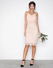 U Collection Light Beige Lace Short Dress