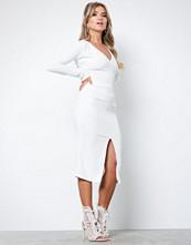 Honor Gold White Jessica Midi Dress