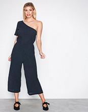 Selected Femme Mørk blå Sfclaire One Shoulder Jumpsuit