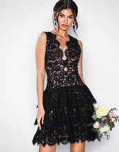 U Collection Lace Short Dress Black