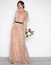 U Collection Beige Lace Detail Maxi Dress