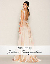 NLY Eve Rose Champagne Glow Bow Back Satin Gown