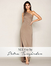 NLY Eve Beige Draped One Shoulder Gown