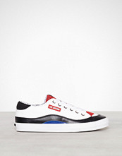 Love Moschino Hvit Lather Sneaker