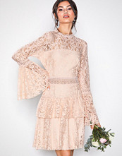 U Collection Dreamy Lace Dress Light Beige