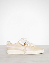 Puma Beige Basket Heart Coach
