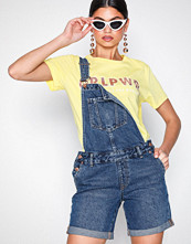 New Look Blue Relaxed Fit Denim Short Dungarees