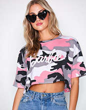 Missguided Pink Barbie Camo Crop T-shirt