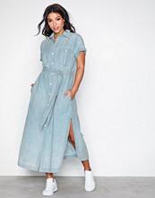 Polo Ralph Lauren Blue Dnm Maxi Dr-No Fit-Short Sleeve-Casual Dress
