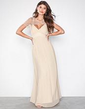 Little Mistress Beige Detail Top Maxi Dress