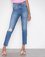 Gina Tricot Blue Leah Slim Mom Jeans
