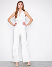 NLY One Hvit Double Layer Jumpsuit