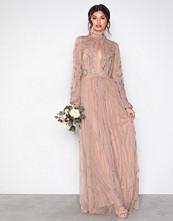 Maya Mauve Embellished Maxi Dress