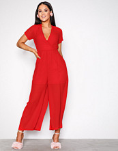 Glamorous Red Wide Leg Jumpsuit