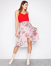 Vila Lys rosa Vinandi Wrap Midi Skirt